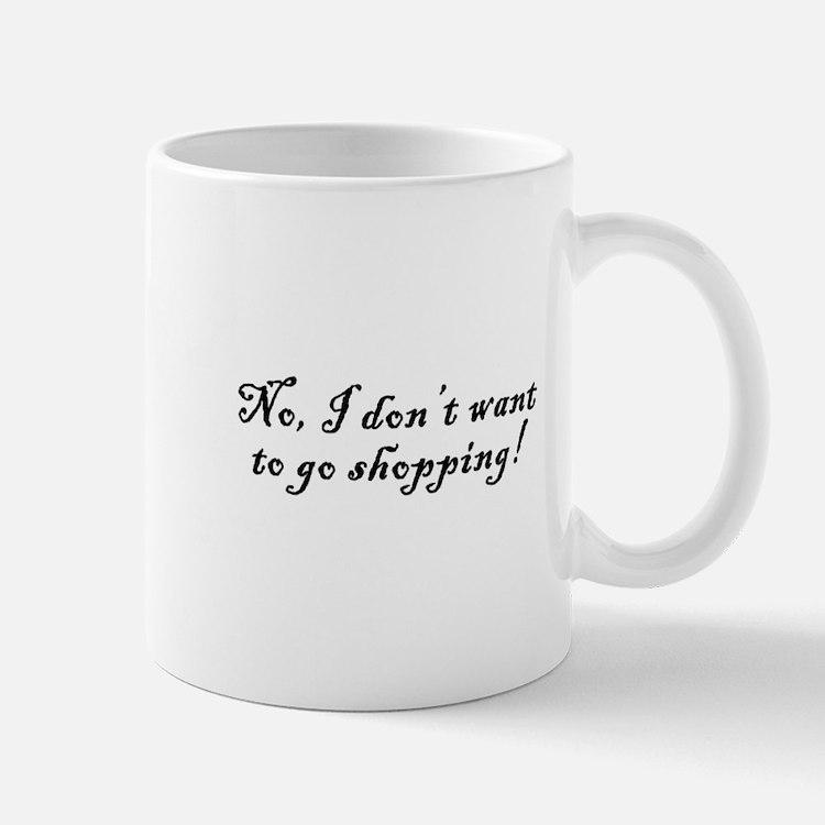 No Shopping Mug