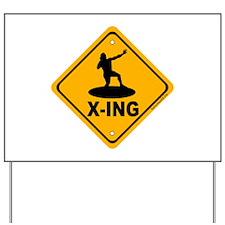 Shot Put X-ing Yard Sign