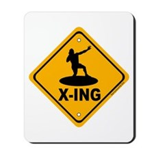 Shot Put X-ing Mousepad