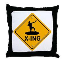 Shot Put X-ing Throw Pillow