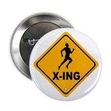 "Runner X-ing 2.25"" Button (10 pack)"