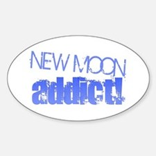 New Moon Addict - blue Oval Decal