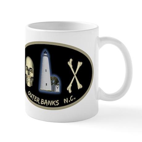 OBX-Ocracoke Skull-n-Bones Mug