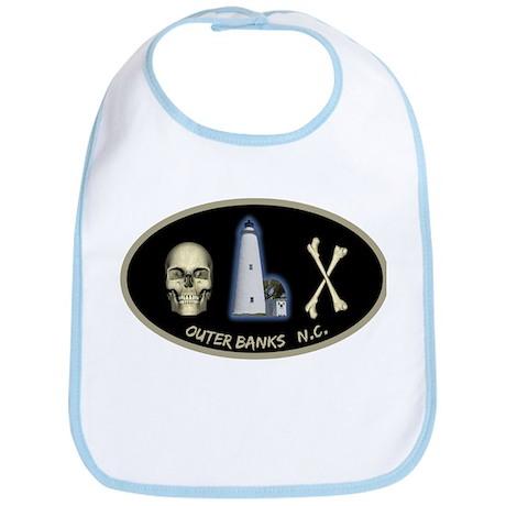 OBX-Ocracoke Skull-n-Bones Bib