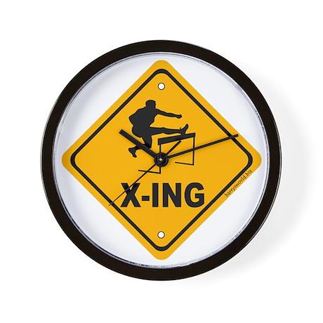 Hurdler X-ing Wall Clock