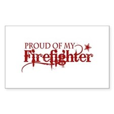 Proud of my Firefighter Rectangle Decal
