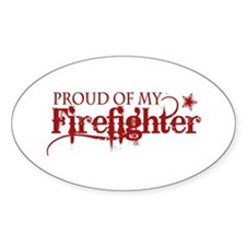 Proud of my Firefighter Oval Decal