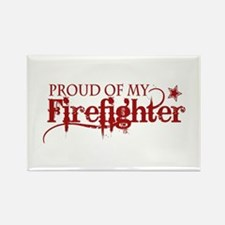 Proud of my Firefighter Rectangle Magnet