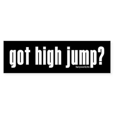 got high jump? Bumper Sticker (10 pk)