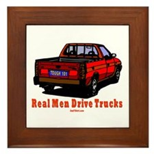Real Men Drive Trucks Framed Tile