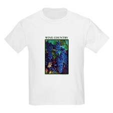 Napa Valley Wine Country Ripe Grapes Kids T-Shirt