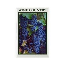 Napa Valley Wine Country Ripe Grapes Rectangle Mag