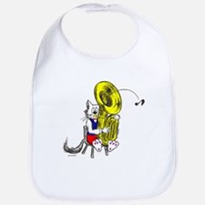 Catoons Tuba Cat Bib