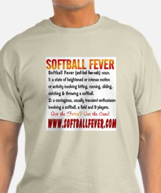 Meaning of Softball Fever Ash Grey T-Shirt
