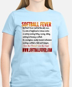 Meaning of Softball Fever Women's Pink T-Shirt