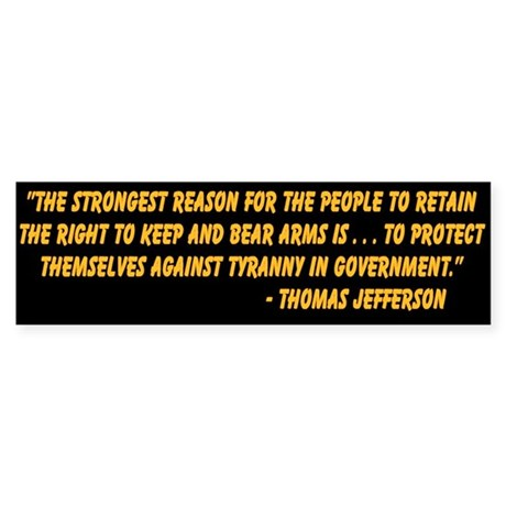 """""""Right To Bear Arms"""" Bumper Sticker"""