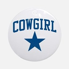Cowgirl Ornament (Round)