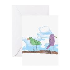 Birdies in the Sky Greeting Card