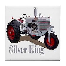 Cute Silver king tractor Tile Coaster