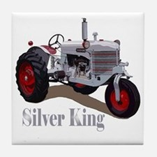 Cute Silver king tractor Tile Coaster