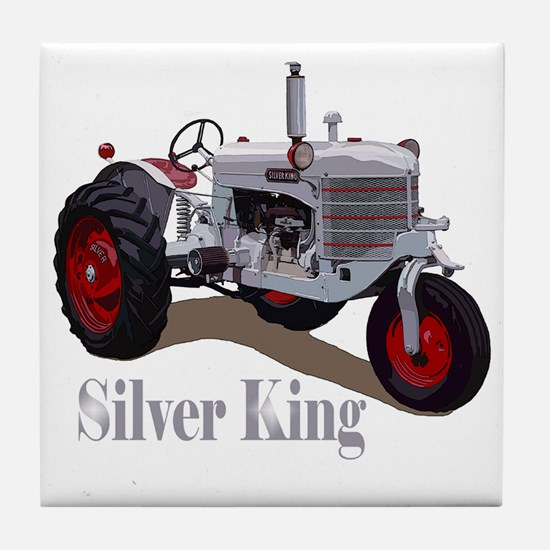 Cool Silver king tractor Tile Coaster