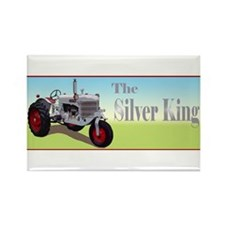 Silver king tractor Rectangle Magnet