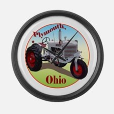 The Plymouth, Ohio Large Wall Clock