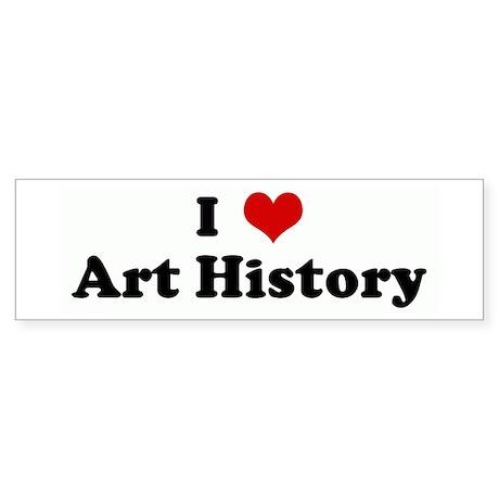 I Love Art History Bumper Sticker