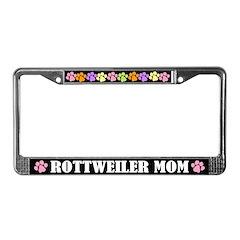 Rottweiler Mom License Plate Frame