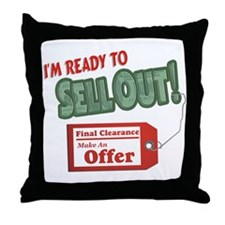 Ready to Sell Throw Pillow