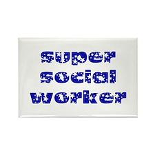super social worker (Navy) Rectangle Magnet