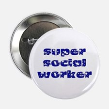 super social worker (Navy) Button