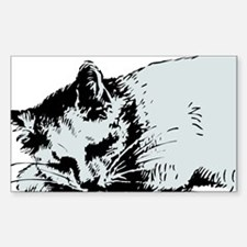 Cat Nap Rectangle Decal