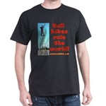 Tall Bikes Rule the World on dark T-shirt