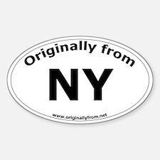 NY Oval Decal