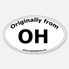 OH Oval Decal