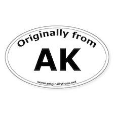 AK Oval Decal