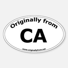 CA Oval Decal