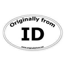 ID Oval Decal