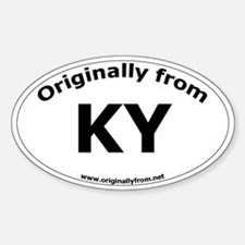 KY Oval Decal