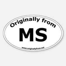 MS Oval Decal