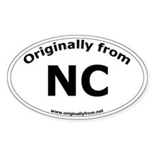 NC Oval Decal