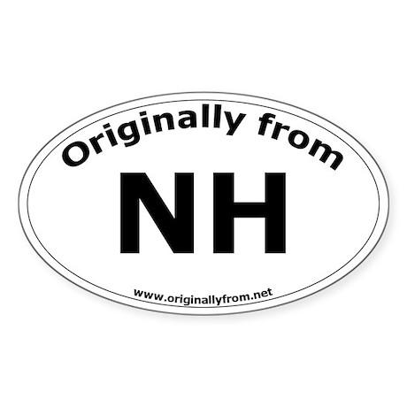 NH Oval Sticker
