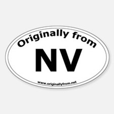 NV Oval Decal