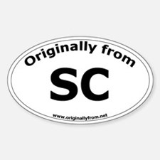 SC Oval Decal