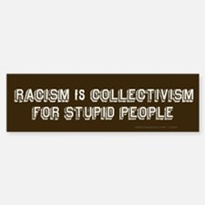 Racism is Stupid Bumper Bumper Bumper Sticker