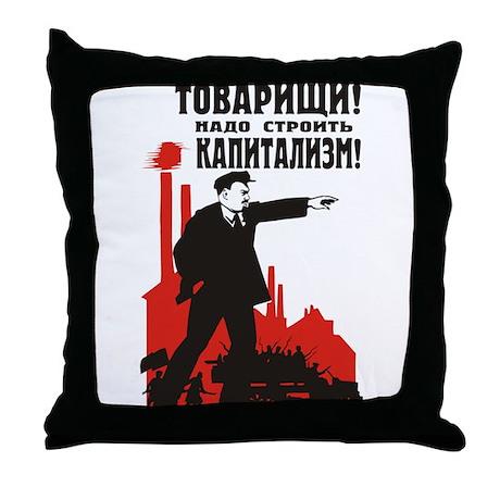 Capitalism Throw Pillow