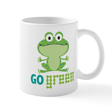 Go Green Frog Mug