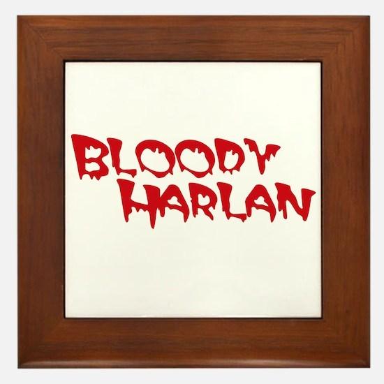 Bloody Harlan Framed Tile