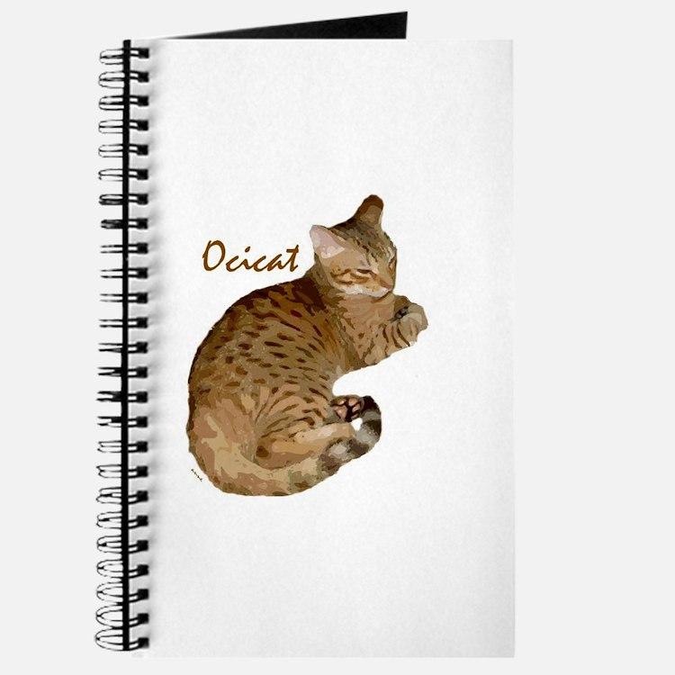 Cute Ocicat Journal